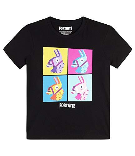 Fortnite Camiseta para Niños (16 años, Black Print)