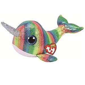 Ty 36418 Nori, Narwhal 24 cm Beanie Boo's, multicolour