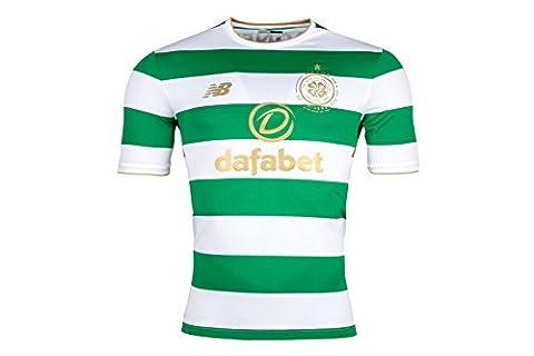 New Balance Celtic 2017/18 Accueil Shirt PRE COMMANDE, Blanc/Vert, L