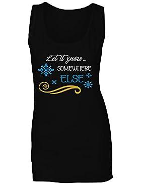 Deja Que Nieve En Otro Lugar camiseta sin mangas mujer n137ft