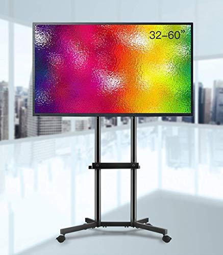 A-Nice Universal Cantilever Floor TV Stand mit Mute-Rad und Schwenkhalterung für 32-60 Zoll LED-LCD-Fernseher mit 60 kg Tragfähigkeit
