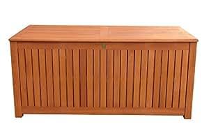 kissenbox 130cm auflagenbox gartenbox truhe eukalyptus k che haushalt. Black Bedroom Furniture Sets. Home Design Ideas