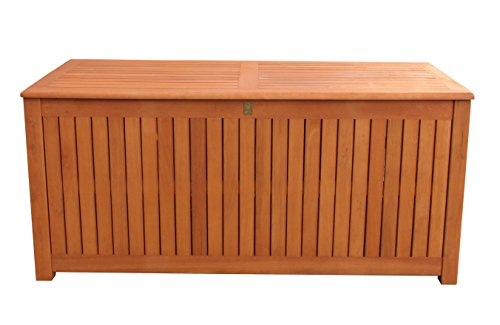 Kissenbox 130cm Auflagenbox Gartenbox Truhe Eukalyptus
