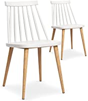 Lot de 2 chaises scandinaves Trouville Blanc