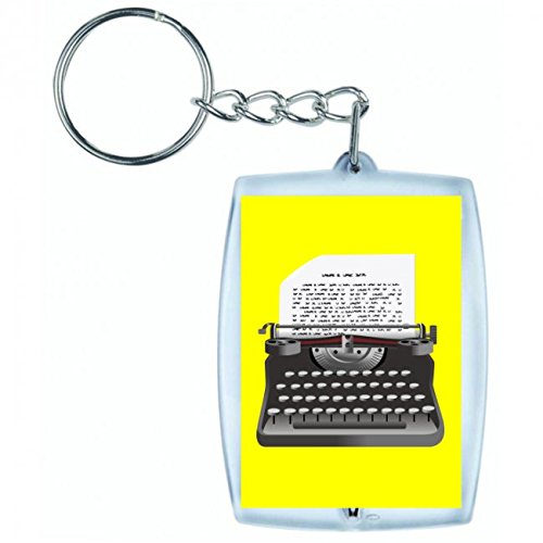 porte-cles-annuel-de-machine-a-ecrire-de-saisie-de-marche-de-retro-ecrivain-de-lettre-de-texte-type-