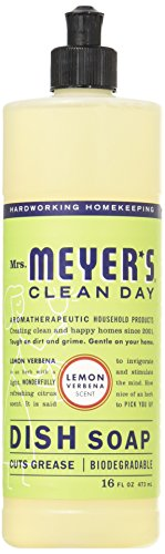 Mrs. Meyers 765222 Mrs. Meyers Liquid Dish Soap - Lemon Verbena - Case of 6 - 16 oz