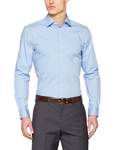 ESPRIT Collection Herren Businesshemd Blau (Light Blue 440)