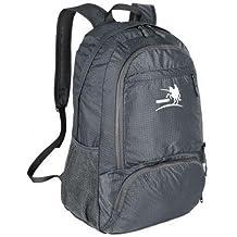 BXT al aire libre impermeable 4bolsillos hombro 35L plegable mochila de viaje de nailon con soportes para botellas de, Unisex, gris