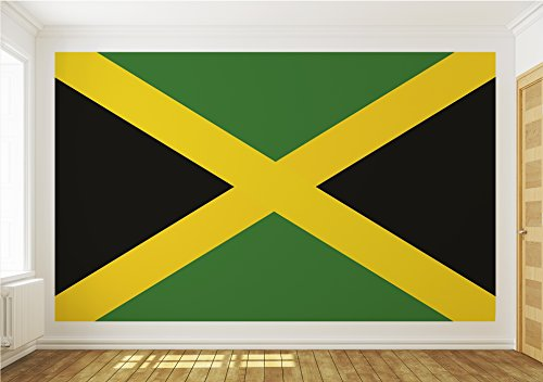 en Tapete Tapeten Foto JAMAIKA JAMAICA FAHNE 478 P8 ()