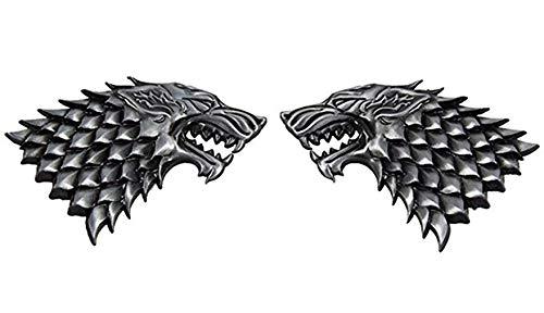 Accessoires Kostüm Wolf - qingning Thrones Abzeichen Stark Wolf Badge Cosplay Zubehör Kostüm