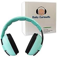 Orejeras plegables y ajustables para bebé, de Comhoney, protección auditiva, protección para los