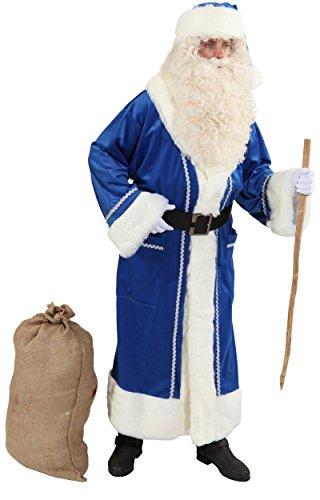 Frost Kostüm Väterchen - Orlob Weihnachtsmann Mantel in blau für Herren zu Weihnachten Gr.52/54