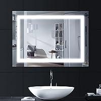 Specchio Con Led Incorporato.Specchio Bagno Led Casa E Cucina Amazon It