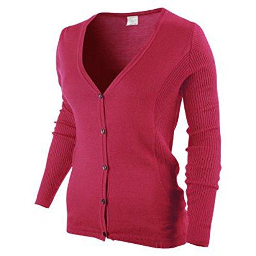 NIKE Damen GOLF COOLMAX Cardigan Farbe: Pink; Größe: L (Pullover Cardigan Golf Style)