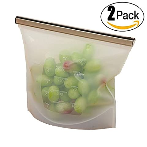 Food Preservation Reusable Silicone Food Bag , 2 Pieces (style 4)