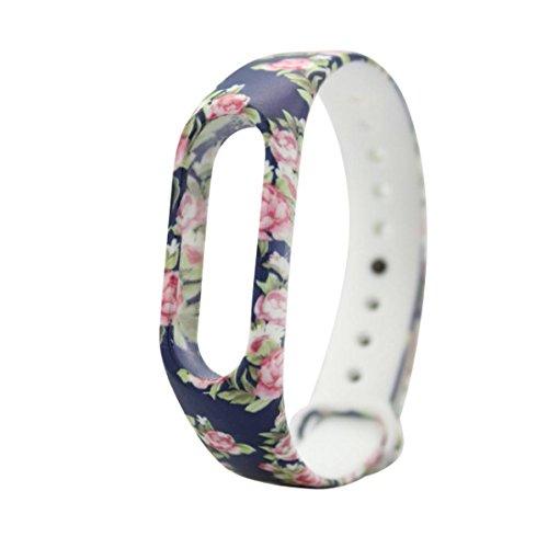 squarex-43cm, Silikon, mit Ersatz-Armband für Xiaomi Mi Band 2Armband, Damen, a, AS Show