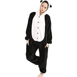 Misslight Unicornio Pijamas Animal Ropa de dormir Cosplay Disfraces Kigurumi Pijamas para Adulto Niños Juguetes y Juegos (M, Panda)