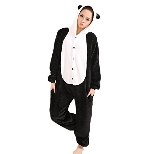 Misslight Einhorn Pyjama Damen Jumpsuits Tieroutfit Tierkostüme Schlafanzug Tier Sleepsuit mit Einhorn Kostüme festival tauglich Erwachsene (M, Panda)