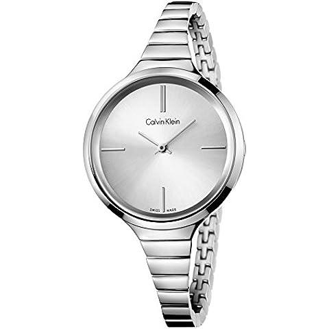 Calvin Klein–Reloj de pulsera analógico para mujer cuarzo acero inoxidable k4u23126