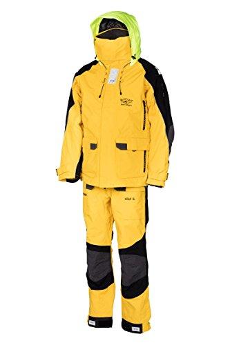 Ölzeug Segeln WestCoast OCEAN / Segelbekleidung 3er-Set Herren (Segeljacke, Segelhose und Innenjacke), Gelb, XL -
