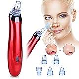 Mitesserentferner, 5 in 1 Elektrischer Mitesser Vakuum Saugnapf Entferner, Facial Porenreiniger Vakuum Akne Saugnapf Peeling Werkzeug