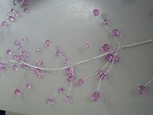 6m Guirlande Tige cristal violet/mariage/décoration