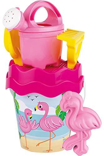 Androni Giocattoli Sandspielzeug Flamingo Baby groß mit Sandform in pink