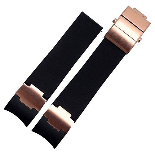 22-mm-nero-cinturino-per-orologio-in-gomma-oro-rosa-adatto-ulysse-nardin-orologio-subacqueo