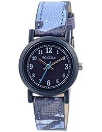 Tikkers Kinder-Armbanduhr Analog Quarz mit Blau Zifferblatt Analog Display und Blau Silikon Riemen tk0106
