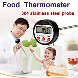 304 Stainless Steel Food BBQ Probe Thermometer Barbecue Meat Thermometer Kitchen Measuring Tool