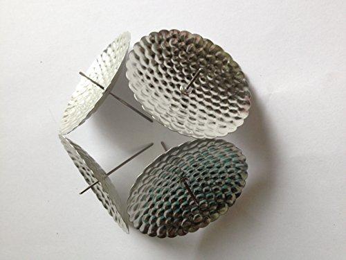 20 Stück Silber Adventskranz kerzenhalter Kerzenhalter Kerzenstecker Kerzenteller in Silber, Gold oder schwarz mit Dorn