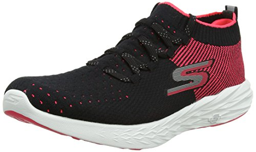 Skechers Performance Go Run 6, Zapatillas Deportivas para Interior para Mujer, Negro (Black/Hot Pink), 39 EU