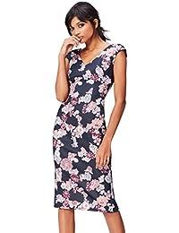 FIND Robe Midi Moulante à Fleurs Femme