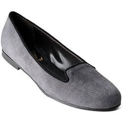 Rumpf Premium Line Handmade Lucia Damen Tanzschuh Tanzen Pumps grau/schwarz 39