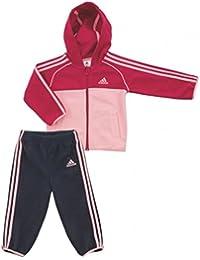 Adidas I J POLAR FZ HD Baby Sport-Freizeit Anzug Mädchen , M64851 , Gr:92 , Pink