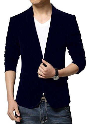 Insun - Giacca da abito - Classico - Uomo, Navy 02, 44