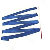 GIMNASIAS rítmicas Cinta con un TWIRLING BAILE Bastón Caña - 4m por Trimming SHOP - Azul Real