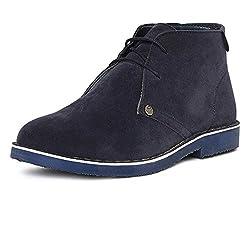 Duke Mens Synthetic Navy Coloured Boots 9