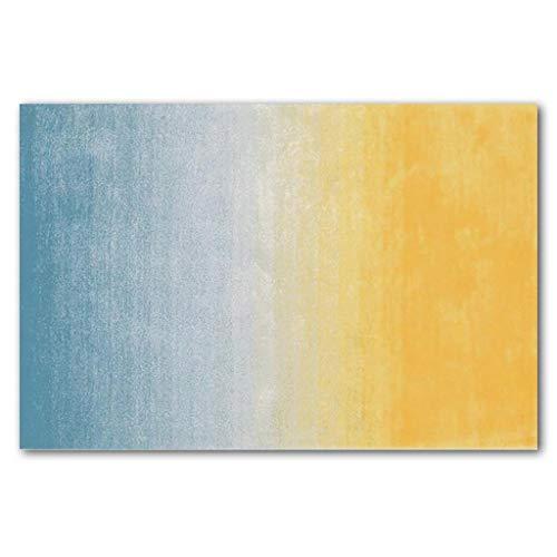 Creme Grüne Rechteck Teppich (WEN Rugs Rechteck Teppiche Teppich Mit Farbverlauf Moderner, Rutschfester, Maschinenwaschbarer Mikrofaserteppich Super Soft Living Room Bedroom Home, 4 Farben (Color : B, Size : 160 * 230cm))