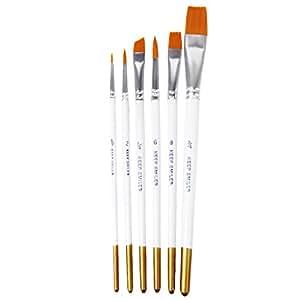 6pcs pinceaux de peinture pinceaux pour peinture acrylique aquarelle cuisine maison. Black Bedroom Furniture Sets. Home Design Ideas