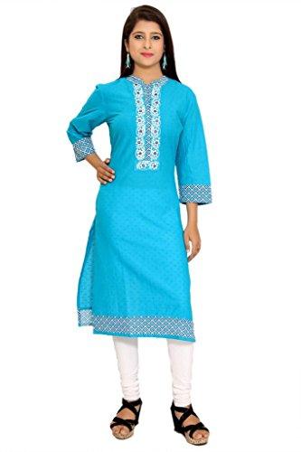 Alobha Cotton kurtis for women (Turquise