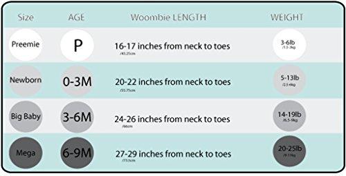 Woombie Original Baby Cocoon swaddle-newborn 0–3months-grey Schmetterlinge