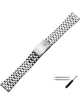 Marburger Basic Line - Uhrarmband aus Edelstahl - 18 mm
