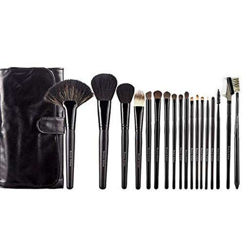 Pinceaux de Maquillage en Bambou Start Makers Pinceaux de Maquillage en Bambou Naturel Set Vegan Pro Cosmetics Kabuki Brush