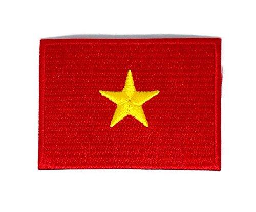 Vietnam Flagge bestickt Nähen Eisen auf Patch Cartoon Nähen Eisen auf bestickte Applikation Craft handgefertigt Baby Kid Girl Frauen Tücher DIY Kostüm Zubehör