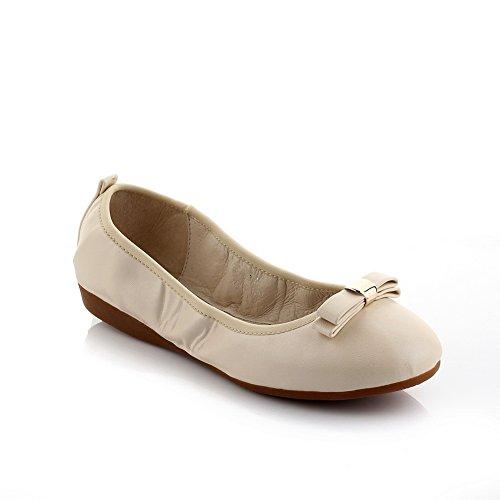 Adee nœuds pour femme Polyuréthane Pompes Chaussures Blanc - Orange abricot