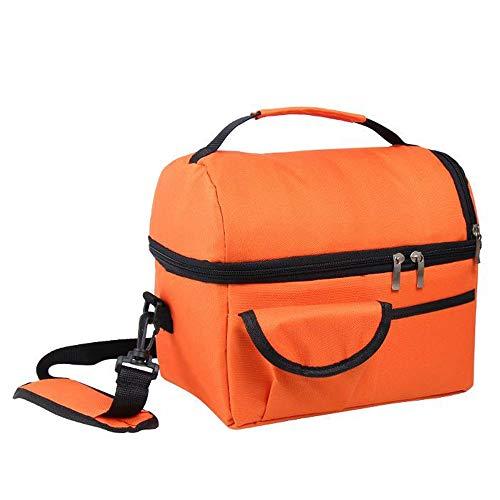 Lunch Bag Thermos, isolierte Kühltasche für Damen, Herren, Kinder, Erwachsene, Wasserabweisende kühle Einkaufstasche Lunchboxen für Schule, Arbeit, Picknick etc (Farbe : Orange)