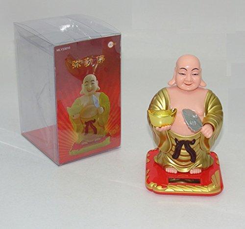 Lilone Gifts Feng Shui Solar Swing Lucky Laughing Buddha - Wrist Swing - Head Swing