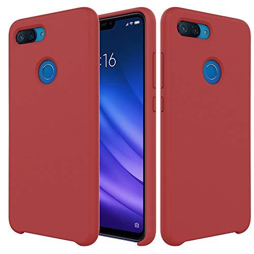 Pacyer Funda Compatible conXiaomi Mi 8 Lite, Ultra Suave TPU Gel de Silicona Case Protectora Suave Flexible teléfono Absorción de Impacto Elegante Carcasa Compatible Xiaomi Mi 8 Lite (Rojo Oscuro)