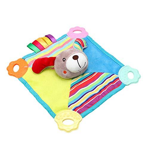TrifyCore Baby Comforting Taggies Decke Kuscheltier Quietscht weichen Platz Plüsch Baby Appease Handtuch Sicherheitsdecke 1pc Hund -
